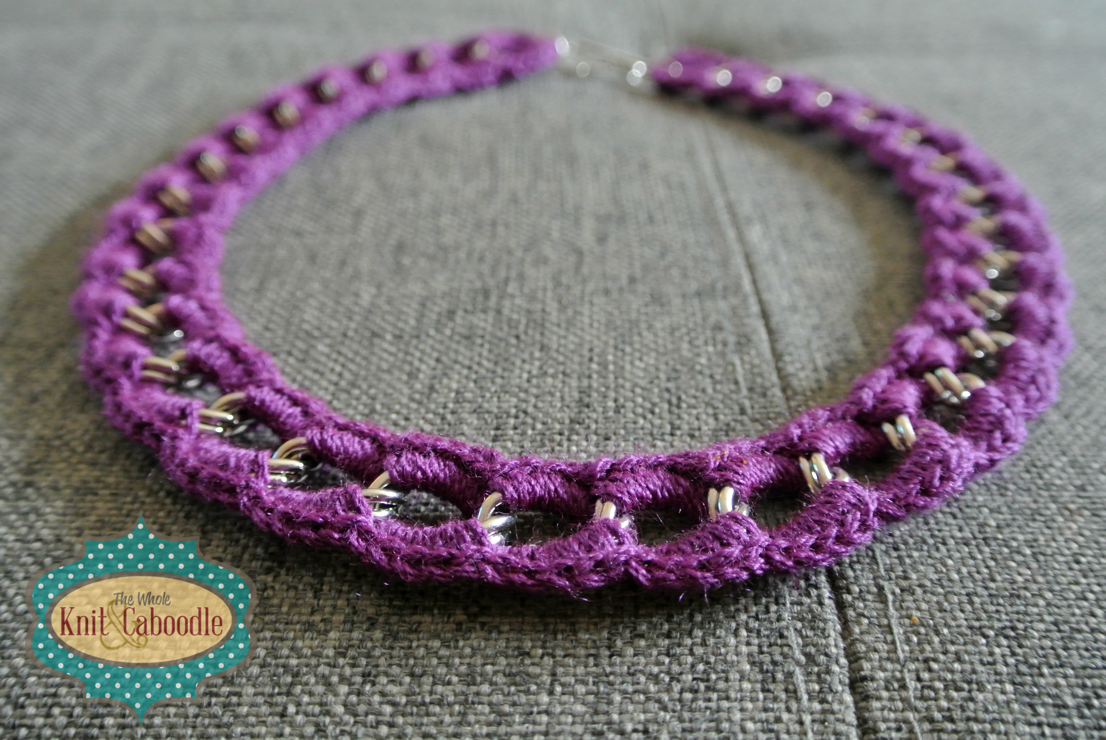 Cute Crocheted Necklace The Whole Knit & Caboodle